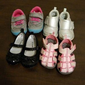 Baby girl size 4 shoe bundle
